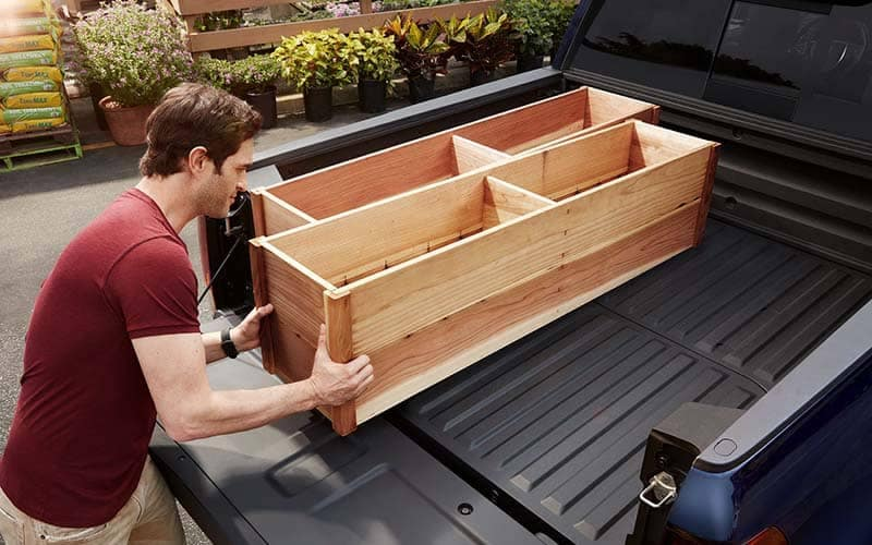 2018 Honda Ridgeline Bed Loaded with Flower Boxes