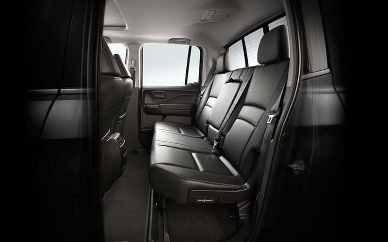 2019 Honda Ridgeline Rear Seating and Seatbelts