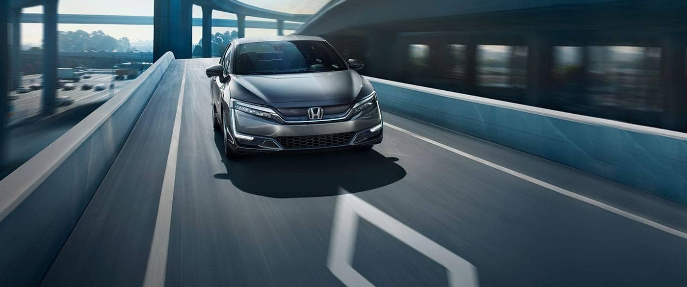 2018 Honda Clarity Electric Driving on Highway