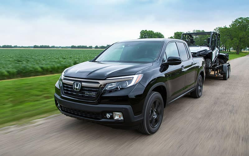 2019 Honda Ridgeline Towing a Trailer