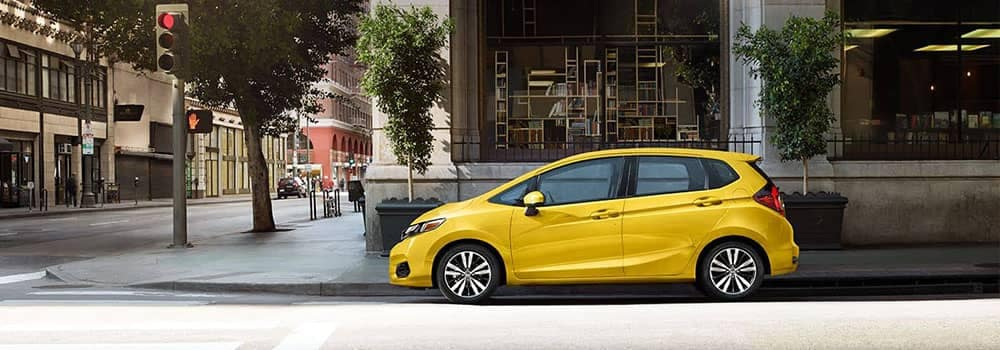 2019 Honda Fit Parked on Side of City Street