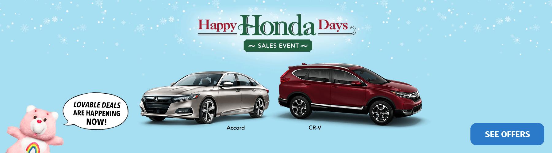 2018 Happy Honda Days Sales Event Banner