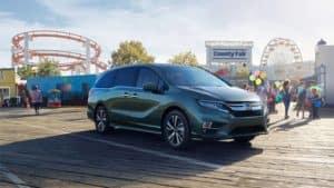 2019 Honda Odyssey Parked Outside Amusement Park
