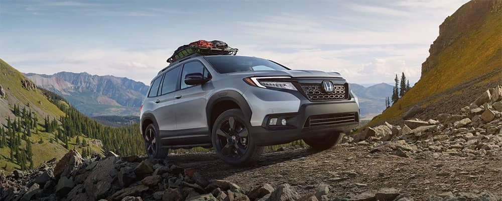 2019 Honda Passport Parked on Mountain