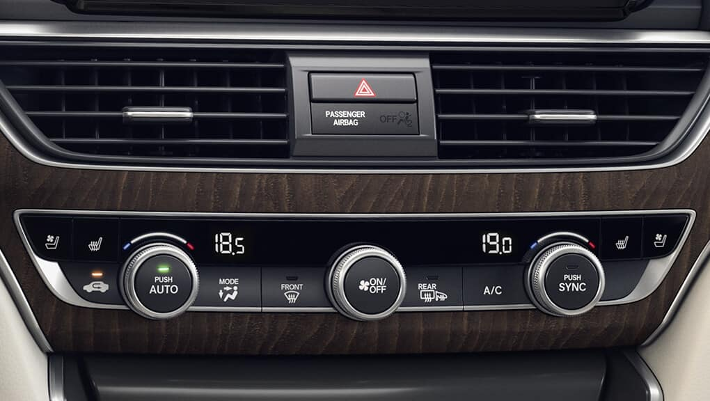2019 Honda Accord Comfort Settings