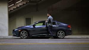 2019 Honda Civic Sedan Man Entering