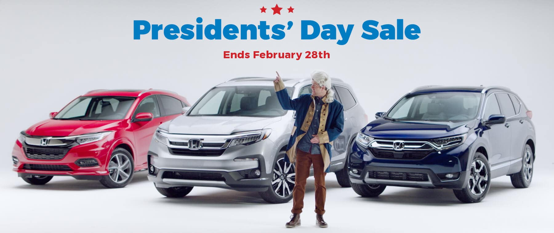 New England Honda Presidents Day Sale Homepage Slide