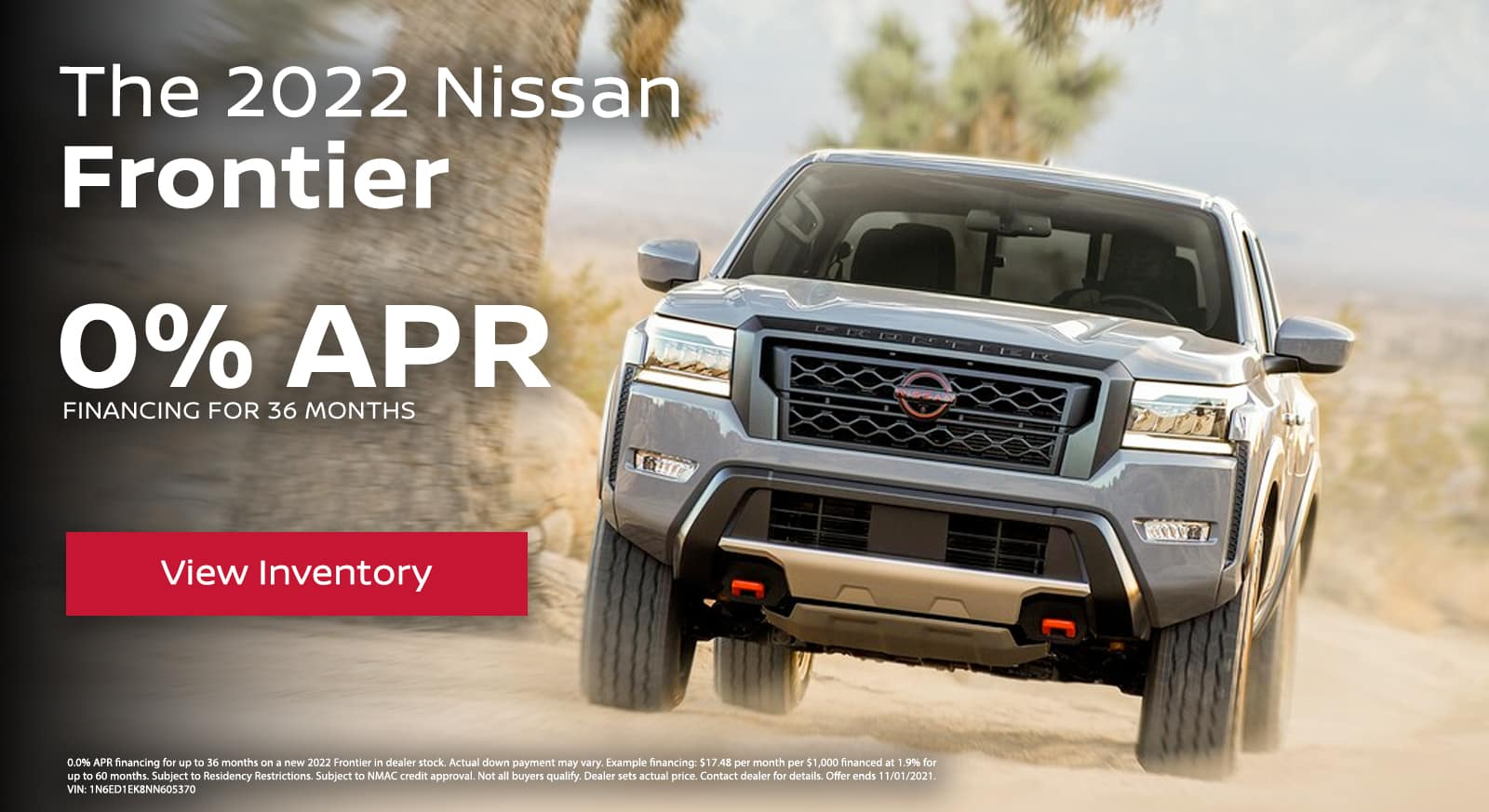 2022 Nissan Frontier 0.0% APR Financing for 36 Months