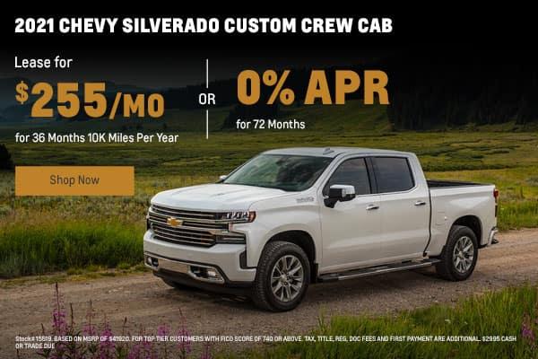 2021 Chevy Silverado Custom Crew Cab
