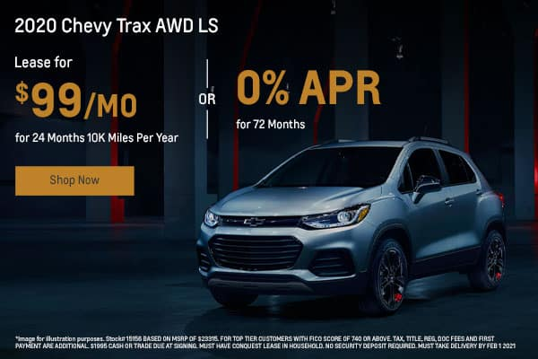 2020 Chevy Trax AWD LS