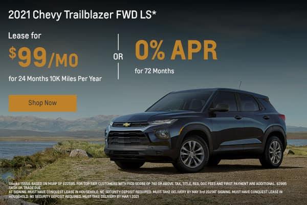 2021 Chevy Trailblazer FWD LS