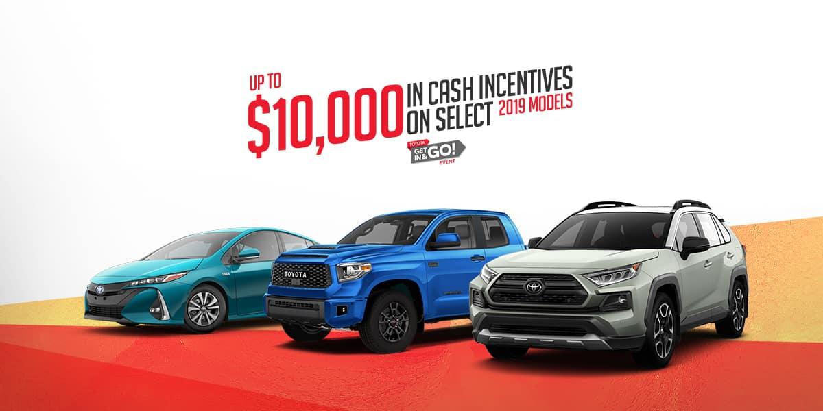 toyota incentive deals