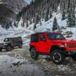 2018 Jeep Wranglers on Snowy Mountain