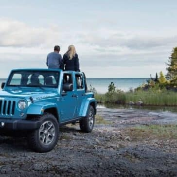 2018 Jeep Wrangler JK by a picturesque lakea