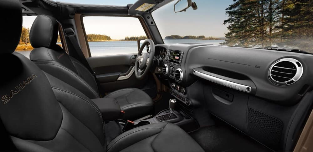 2018 Jeep Wrangler JK dashboard lake view