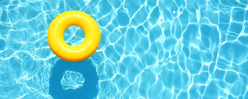 Yellow Pool Floats in Swimming Pool