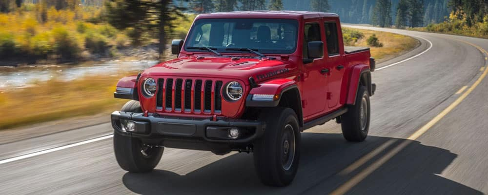 2020 Jeep Gladiator Driving Outdoors