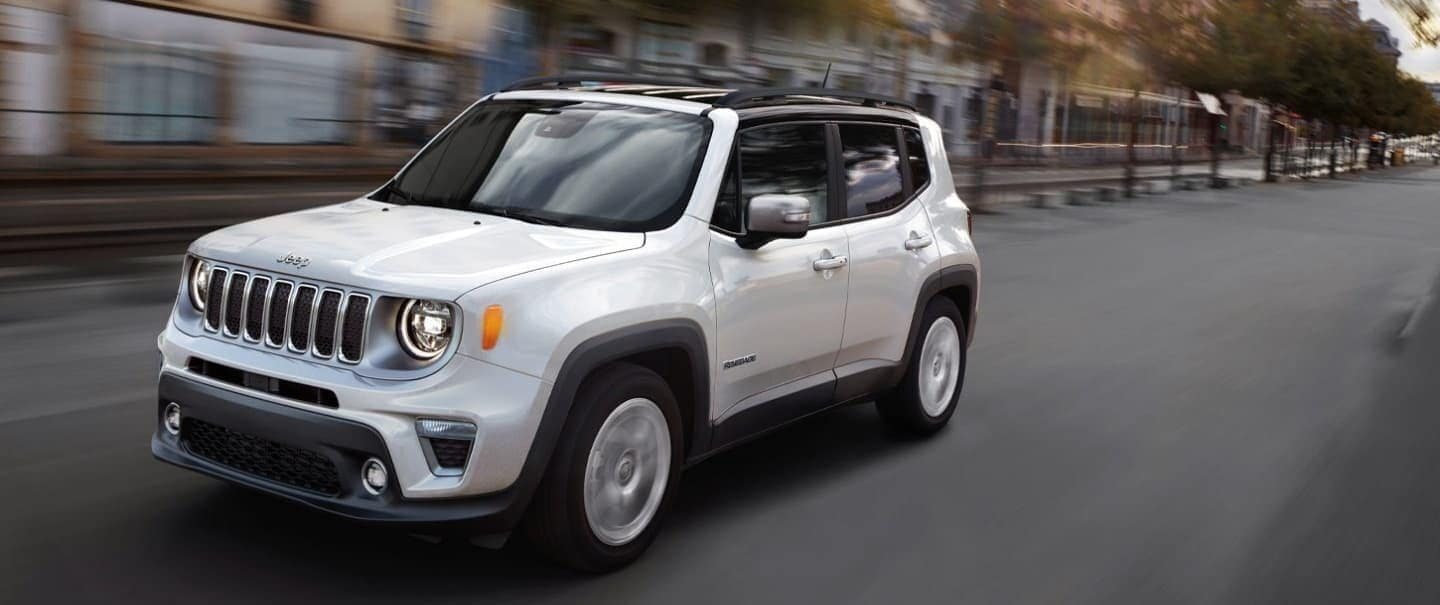 2020 Jeep Renegade with white exterior