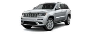 Billet Silver Metallic 2018 Jeep Grand Cherokee at an Angle