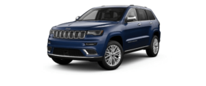 True Blue Pearl-Coat 2018 Jeep Grand Cherokee at an Angle