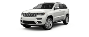 Ivory Tri-Coat 2018 Jeep Grand Cherokee at an Angle