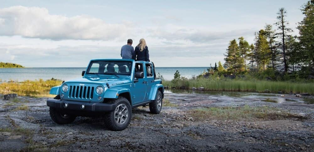 2018 Jeep Wrangler JK by a picturesque lake