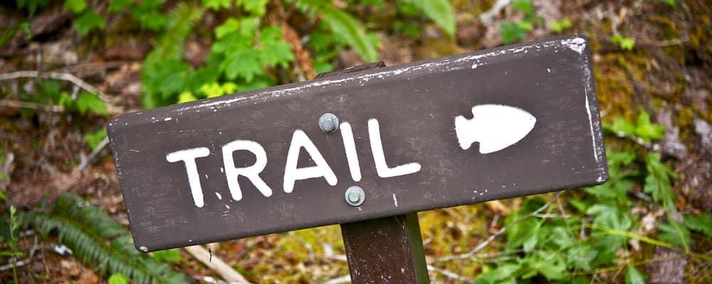 Hiking Trail Wood Sign