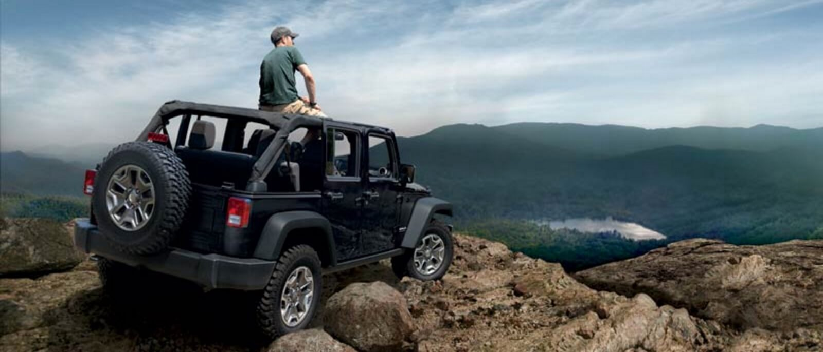 2016 Jeep Wrangler on mountain top