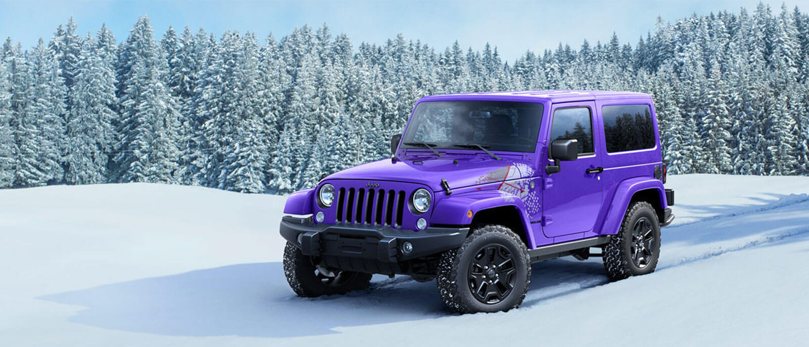 2016 Jeep Wrangler in the snow