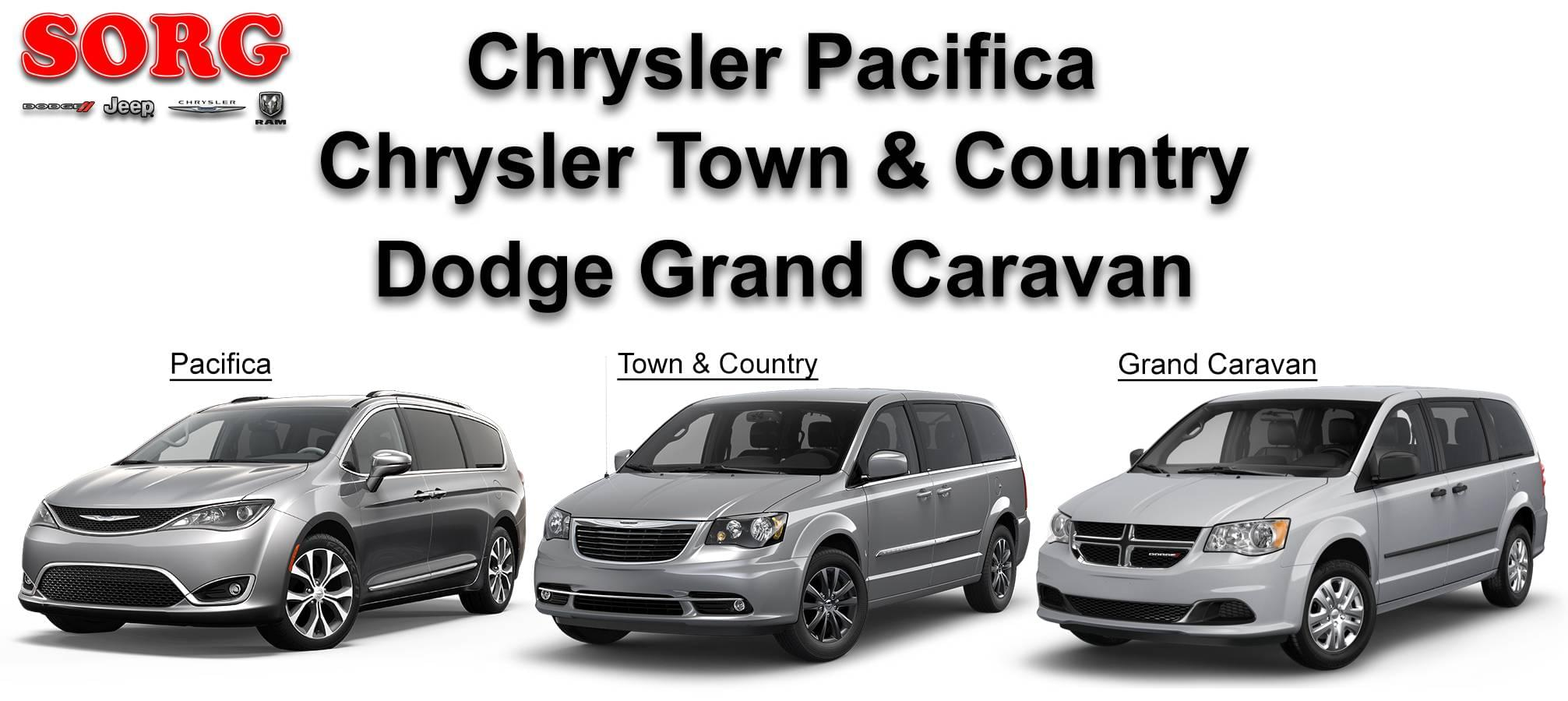 minivans chrysler pacifica dodge grand caravan
