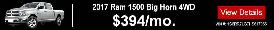 2017 Ram 1500 Big Horn 4WD