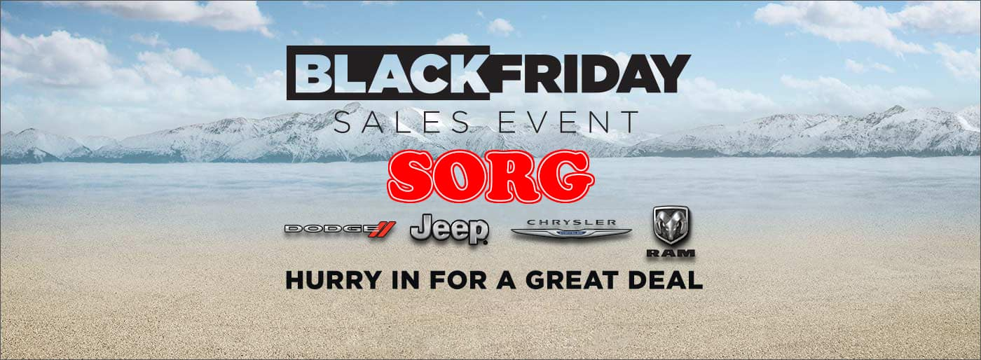 Black Friday Sorg Dodge Sales Event - Chrysler Jeep Ram Sale