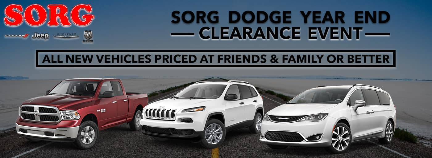 Sorg Dodge Year End Clearance Event