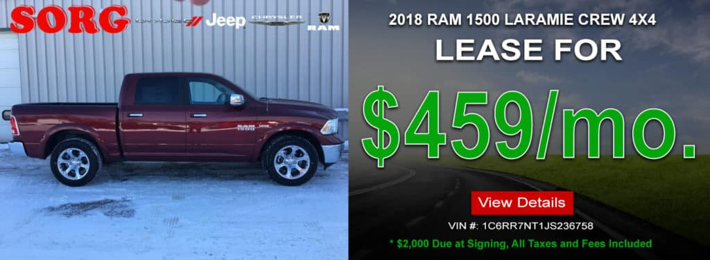 2018 RAM 1500 LARMIE CREW 4X4