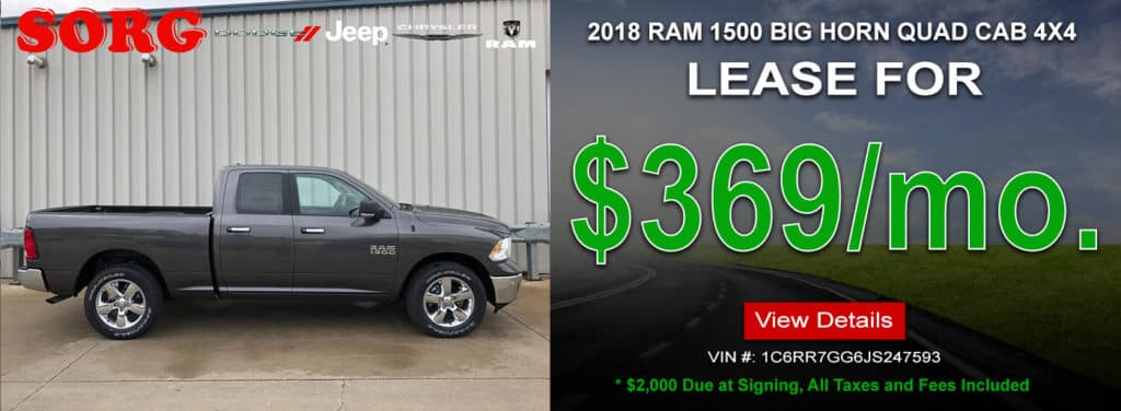 2018 RAM 1500 BIG HORN QUAD CAB 4X4