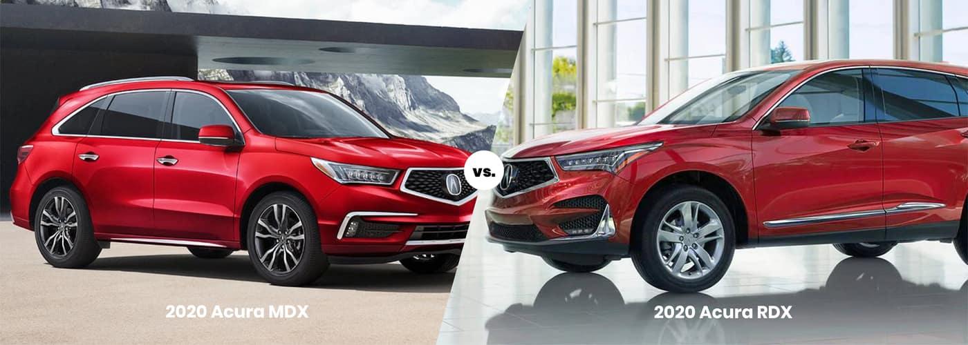 2020 Acura MDX vs. 2020 Acura RDX