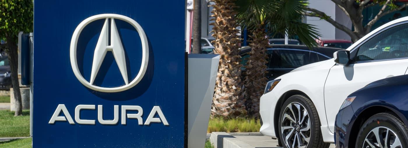Acura Logo at an Acura Dealership