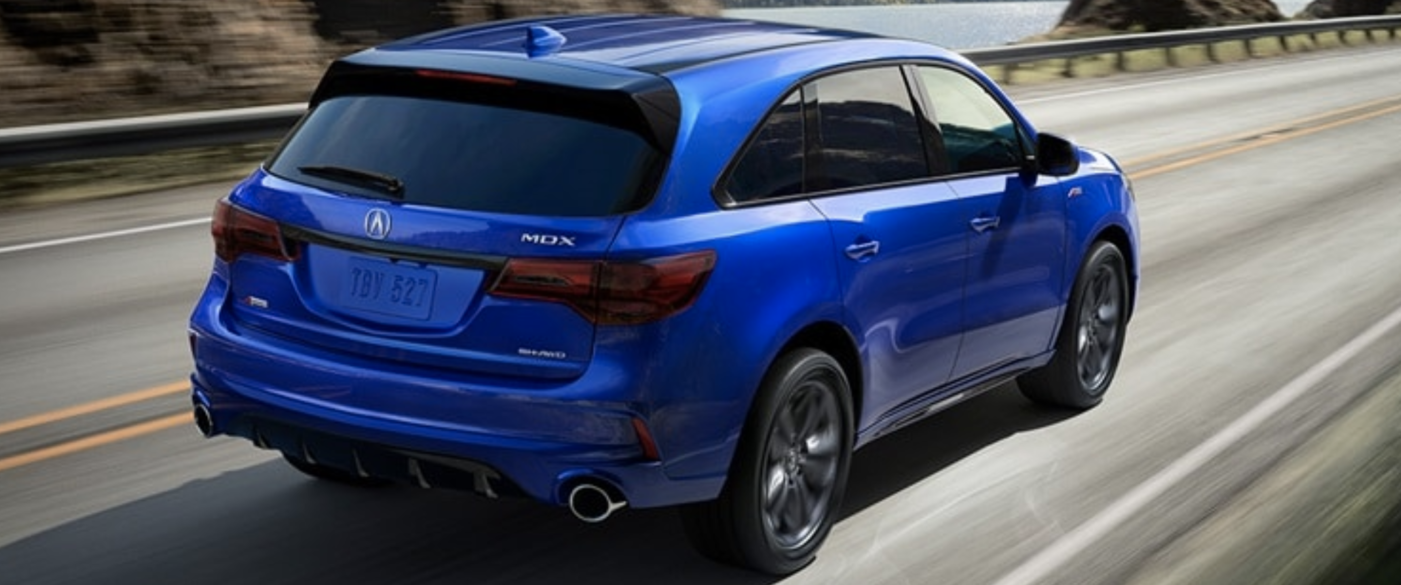 Back of 2020 Acura MDX