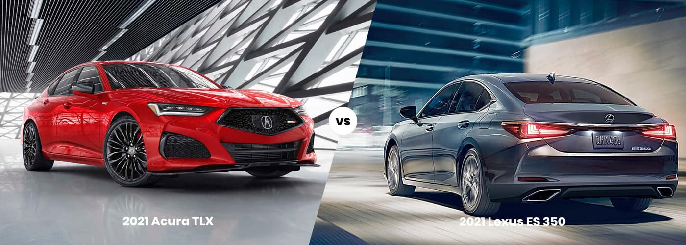 2021 Acura TLX vs 2021 Lexus ES 350 comparison