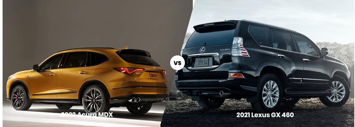 2022 Acura MDX vs 2021 Lexus GX 460 comparison
