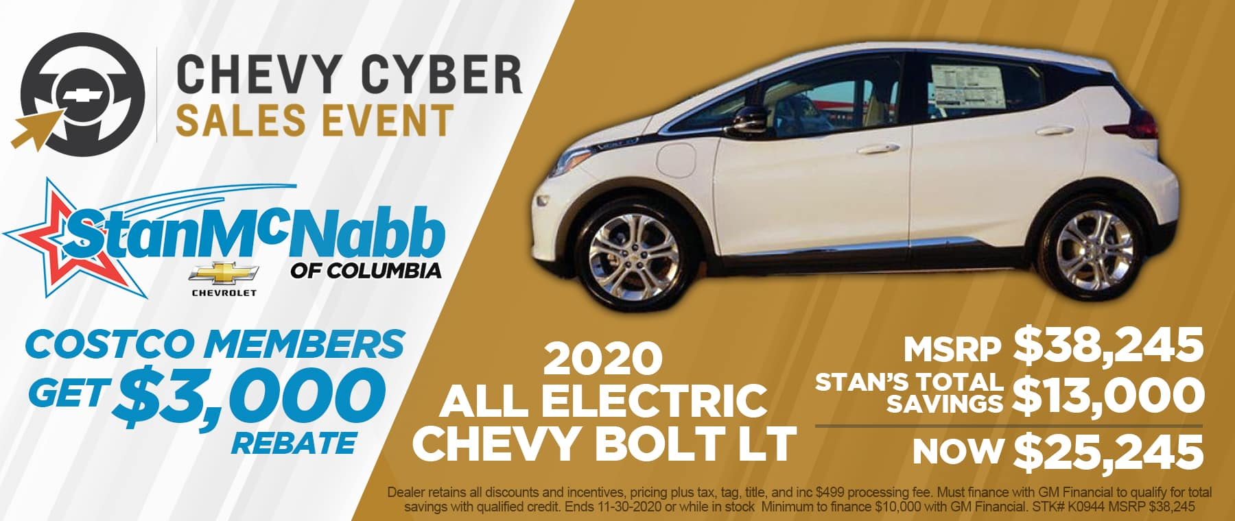 Cyber Sale on the 2020 Chevrolet Bolt