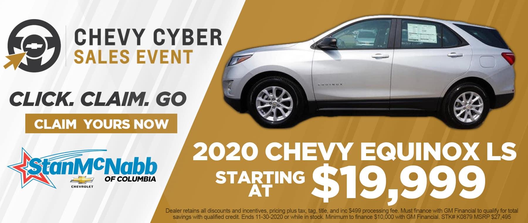 Cyber Sales 2020 Chevy Equinox