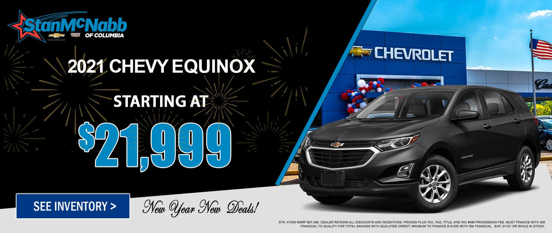 January special on the 2020 Equinox LS at Stan McNabb Chevrolet of Columbia