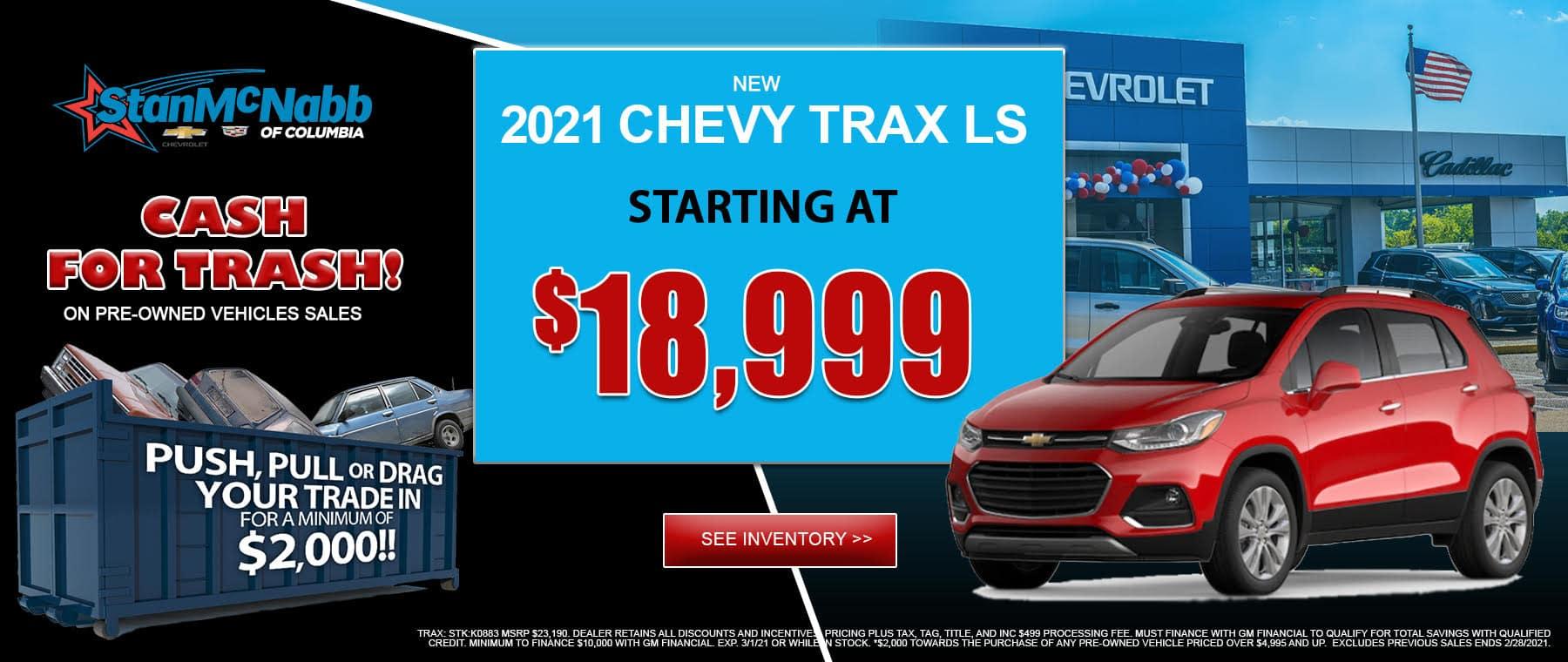2021 chevy trax ls