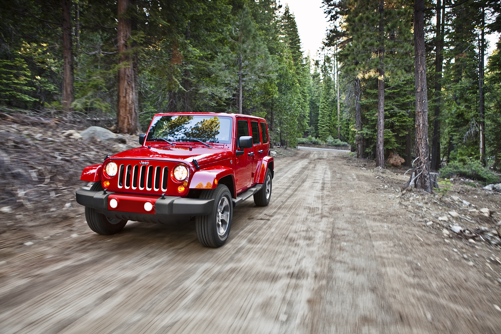 Jeep Wrangler in Firecracker Red