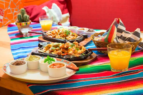 mexican restaurant meal