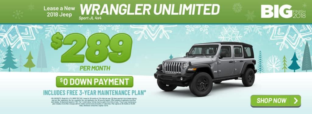 New 2018 Jeep Wrangler Unlimited Sport JL 4x4