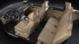 Jeep Grand Cherokee tan leather Interior