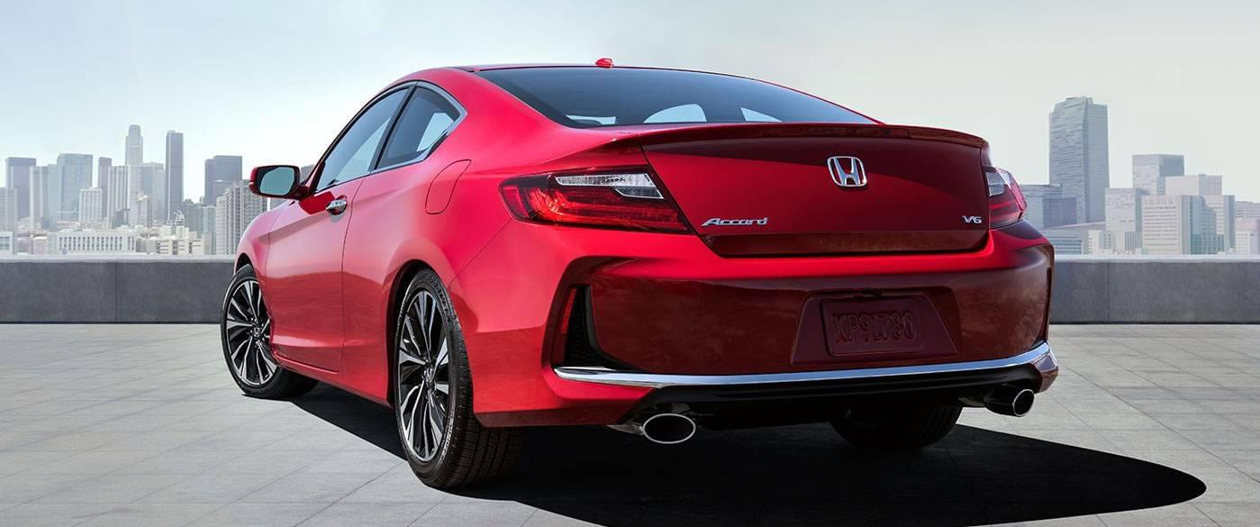 2017 Honda Accord Coupe Exterior Rear Red
