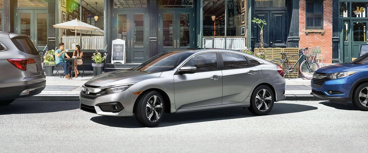 2017 Honda Civic Sedan EX-T Silver Exterior Side